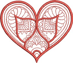 Feathered Heart embroidery design
