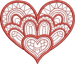 Tangled Heart embroidery design