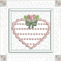 Knot Heart Quilt Block embroidery design