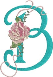 Harrington Rose B embroidery design