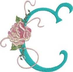 Harrington Rose C embroidery design