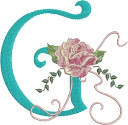 Harrington Rose G embroidery design