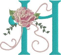 Harrington Rose H embroidery design