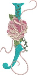 Harrington Rose J embroidery design