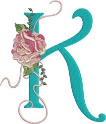 Harrington Rose K embroidery design