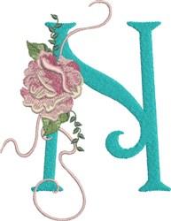 Harrington Rose N embroidery design
