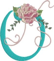 Harrington Rose O embroidery design