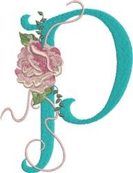 Harrington Rose P embroidery design