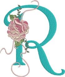 Harrington Rose R embroidery design