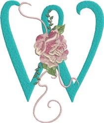 Harrington Rose W embroidery design