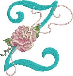 Harrington Rose Z embroidery design