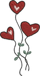 Heart Bouquet embroidery design