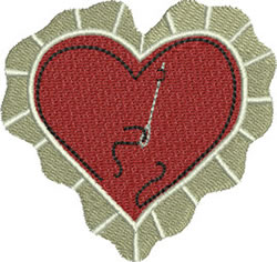 Sewing Valentine embroidery design
