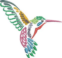 Multi-color Hummingbird 2 embroidery design