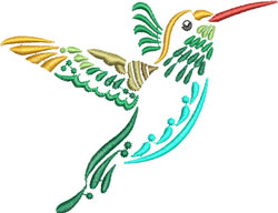 Multi-color Hummingbird 7 embroidery design
