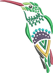 Multi-color Hummingbird 9 embroidery design