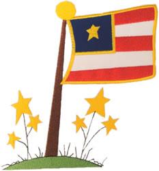 Flag Applique embroidery design