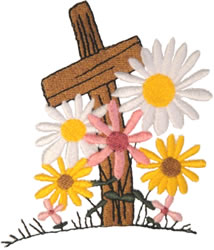 In Loving Memory Cross embroidery design
