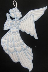"""ITH Praying Angel Wall Hanging for the 5"""" x 7"""" hoop embroidery design"""