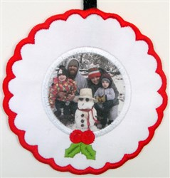 ITH Christmas Fabric Frame 8 embroidery design