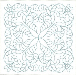 ITH Swirled Feathers Quilt Block embroidery design