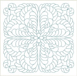 ITH Feathered Quadrant Quilt Block embroidery design