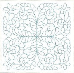 ITH Feathered Heirloom Quilt Block embroidery design