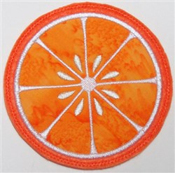 ITH Citrus Coaster embroidery design