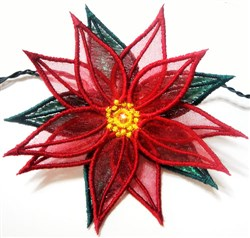 ITH 3D Poinsettia embroidery design
