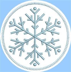 ITH Snowflake Coaster 2 embroidery design