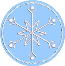 ITH Snowflake Coaster 3 embroidery design
