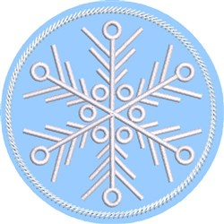 ITH Snowflake Coaster 4 embroidery design