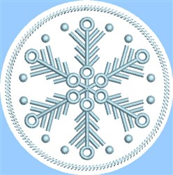 ITH Snowflake Coaster 5 embroidery design