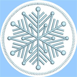 ITH Snowflake Coaster 6 embroidery design