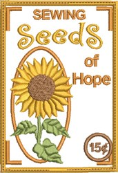 Sewing Seeds of Hope embroidery design