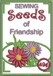 Sewing Seeds of Friendship embroidery design