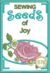 Sewing Seeds of Joy embroidery design