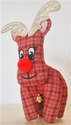 ITH Stuffed Reindeer Decoration embroidery design