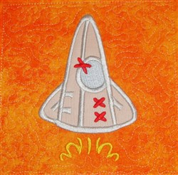 ITH Rocket Applique Quilt Block embroidery design