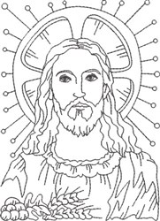Depiction of Jesus 1 embroidery design