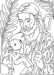 Depiction of Jesus 3 embroidery design