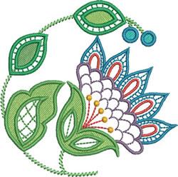 Jacobean Era Floral embroidery design