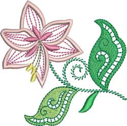 Jacobean Floral embroidery design