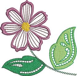 Jacobean Daisy embroidery design