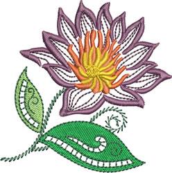 Jacobean Dahlia embroidery design