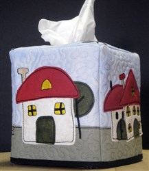 Home Sweet Home Kleenex® Box Cover embroidery design