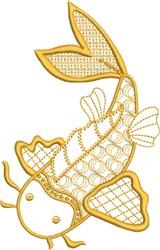 Symbolic Koi embroidery design