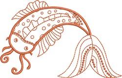 Good Fortune Koi embroidery design