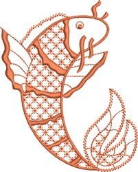 Koi Wealth embroidery design