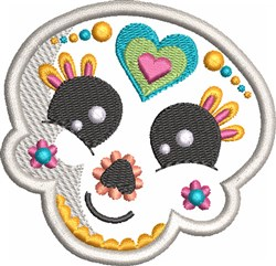 Kids Sugar Skull 3 embroidery design